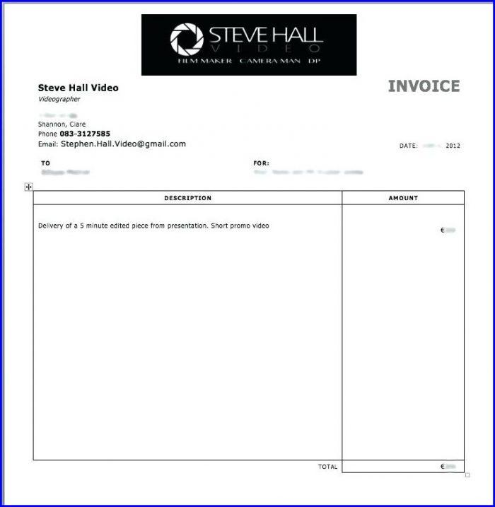 Freelance Invoice Template No Company