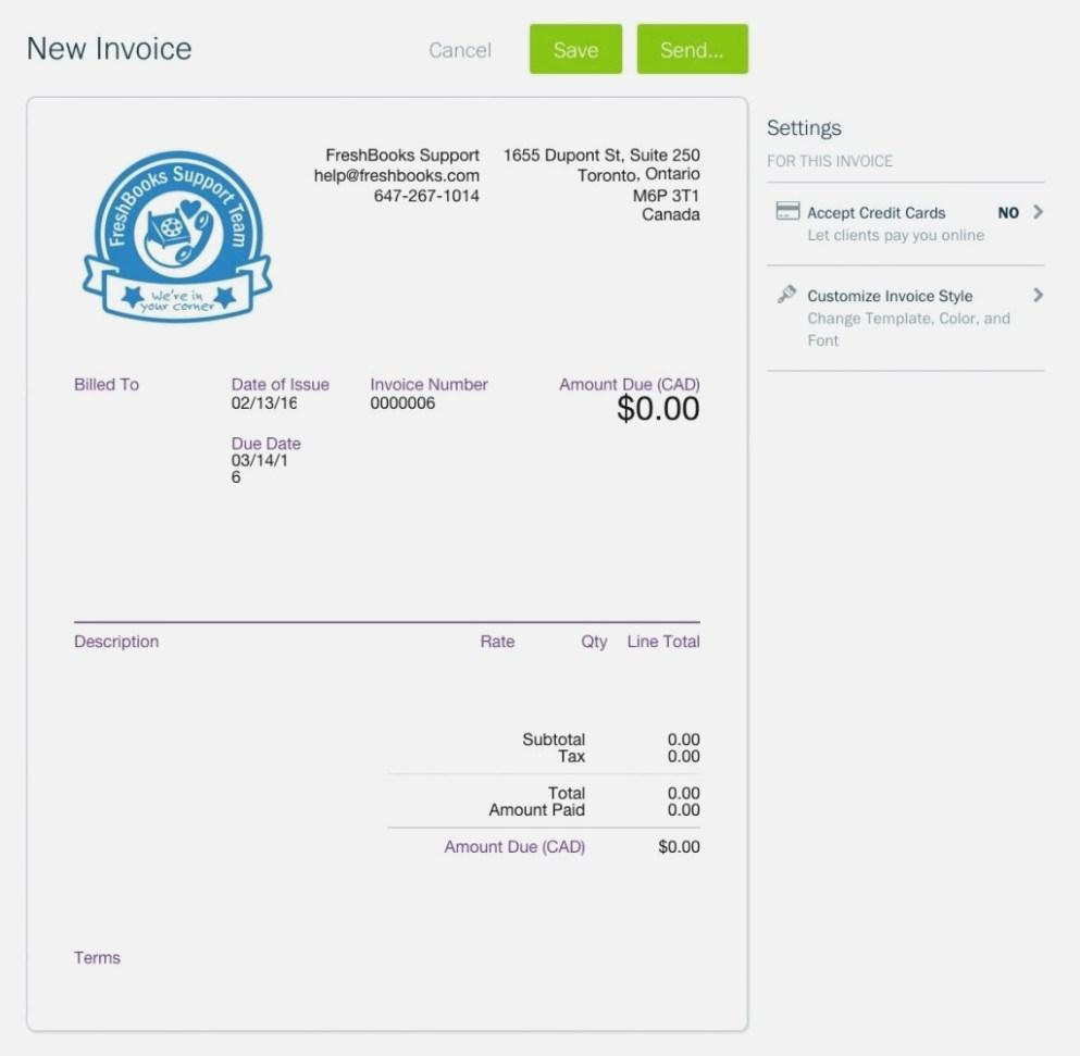 Freshbooks Invoice Templates