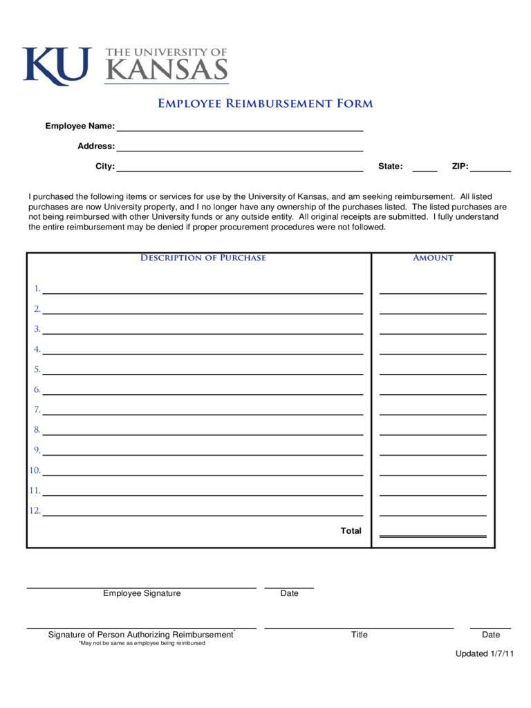 Fuel Expense Form Templates