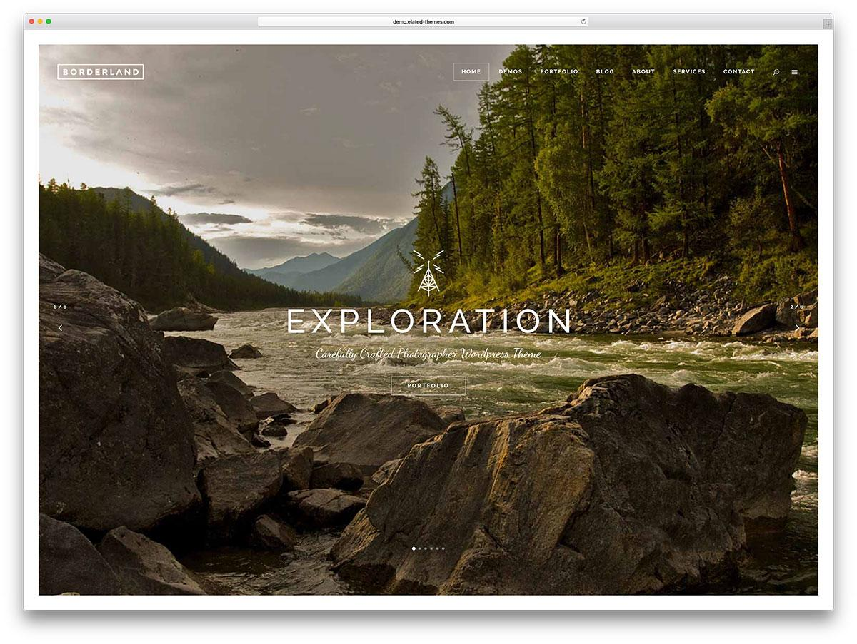 Fullscreen Slideshow Website Template