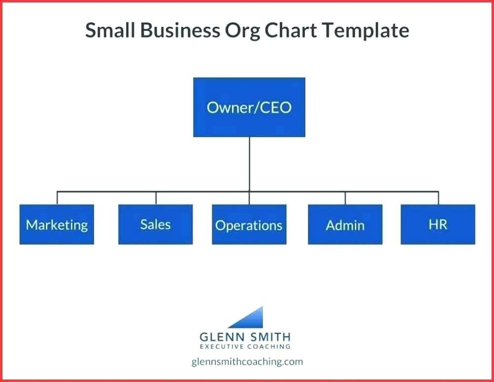 Functional Organizational Structure Chart Template
