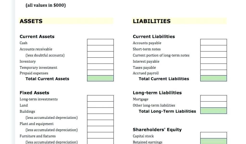 Fund Accounting Balance Sheet Example