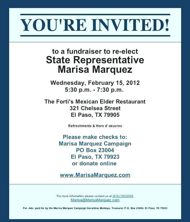 Fundraiser Event Invitation Template