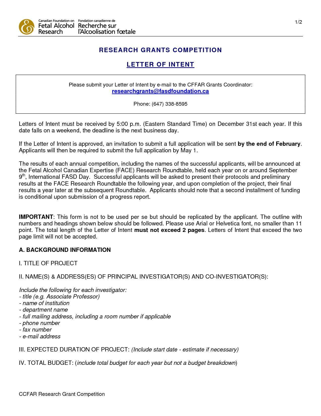 Fundraiser Proposal Letter Template