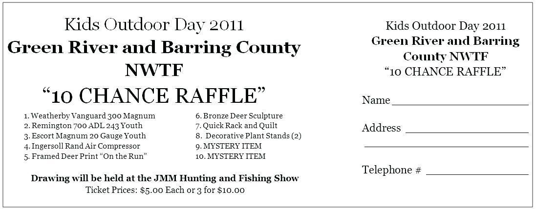 Fundraiser Raffle Tickets Template