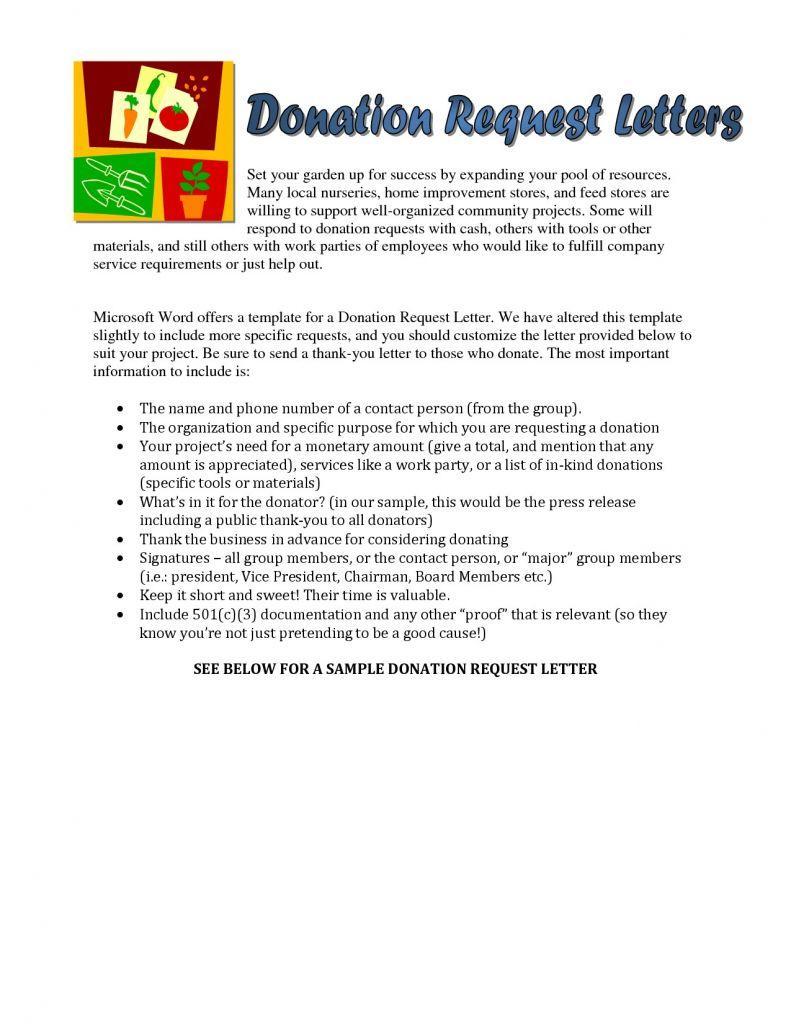 Fundraiser Request Letter Template