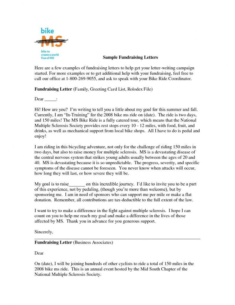 Fundraiser Thank You Letter Template