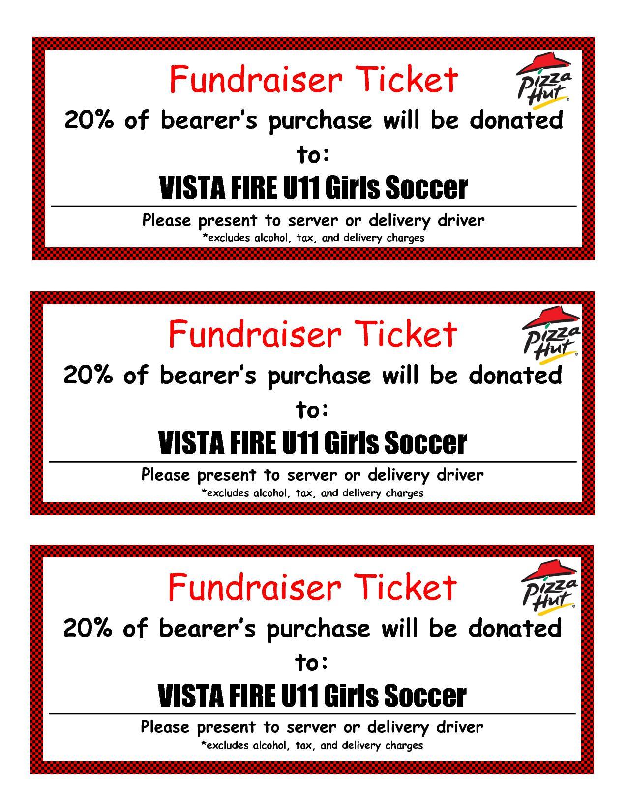 Fundraiser Tickets Template
