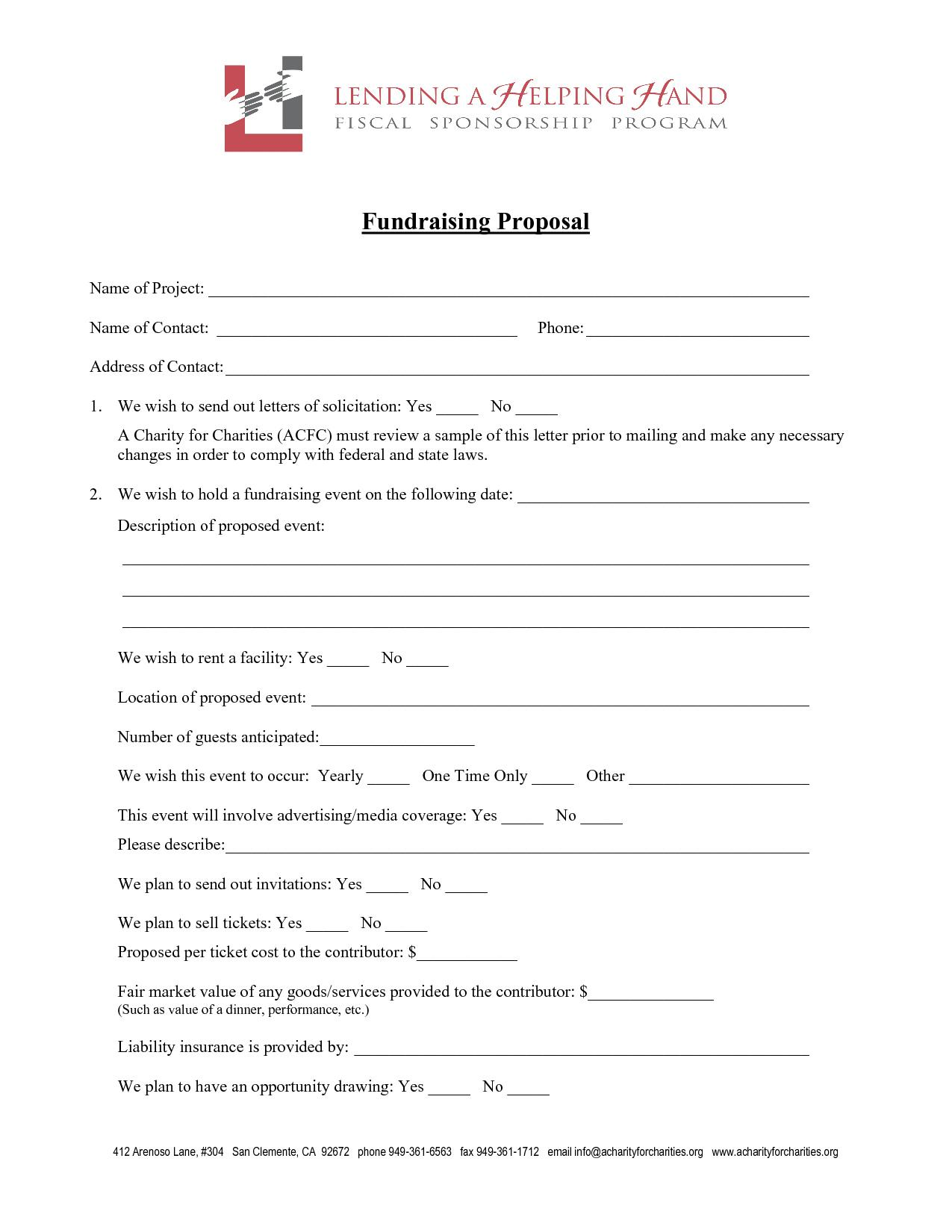 Fundraising Business Proposal Template