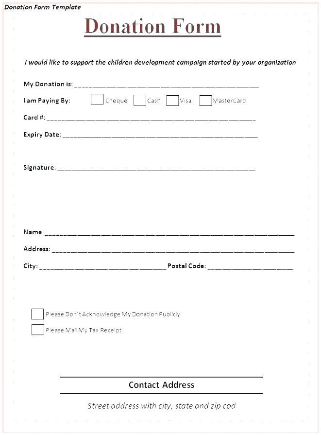Fundraising Donation Form Template