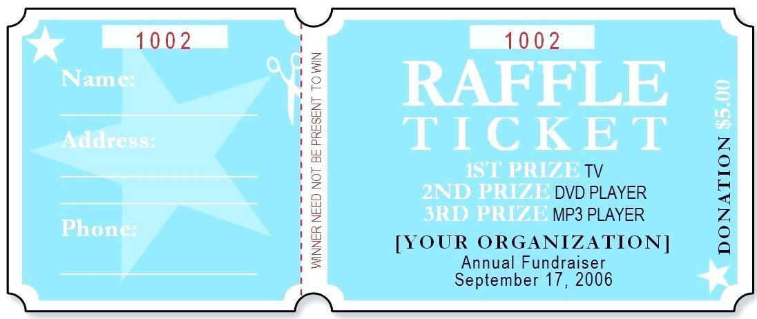 Fundraising Event Tickets Templates
