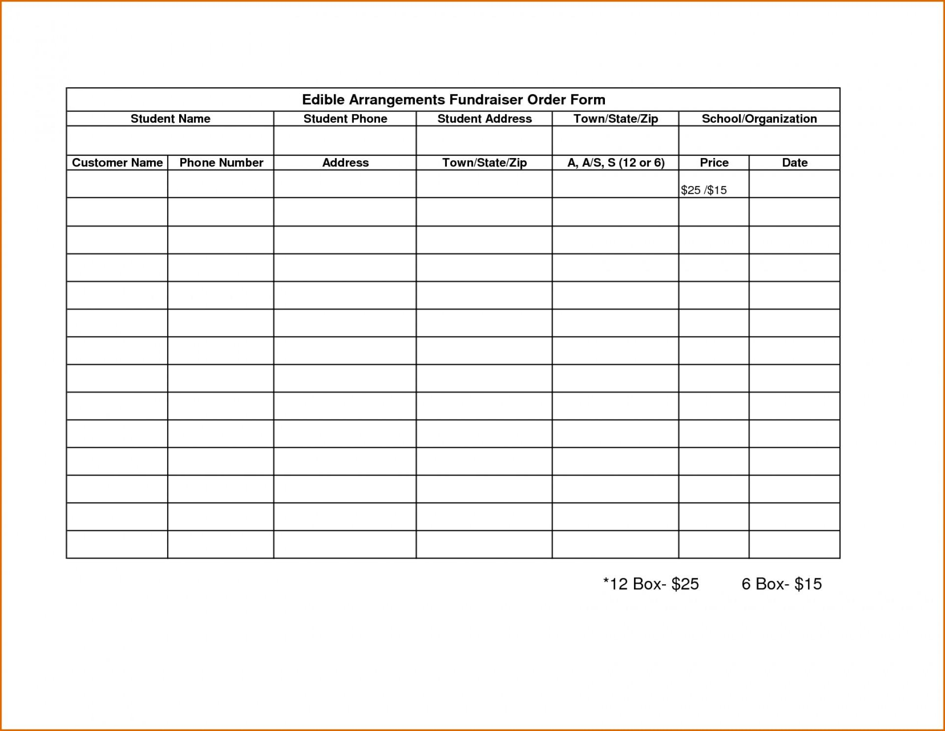 Fundraising Form Template Free