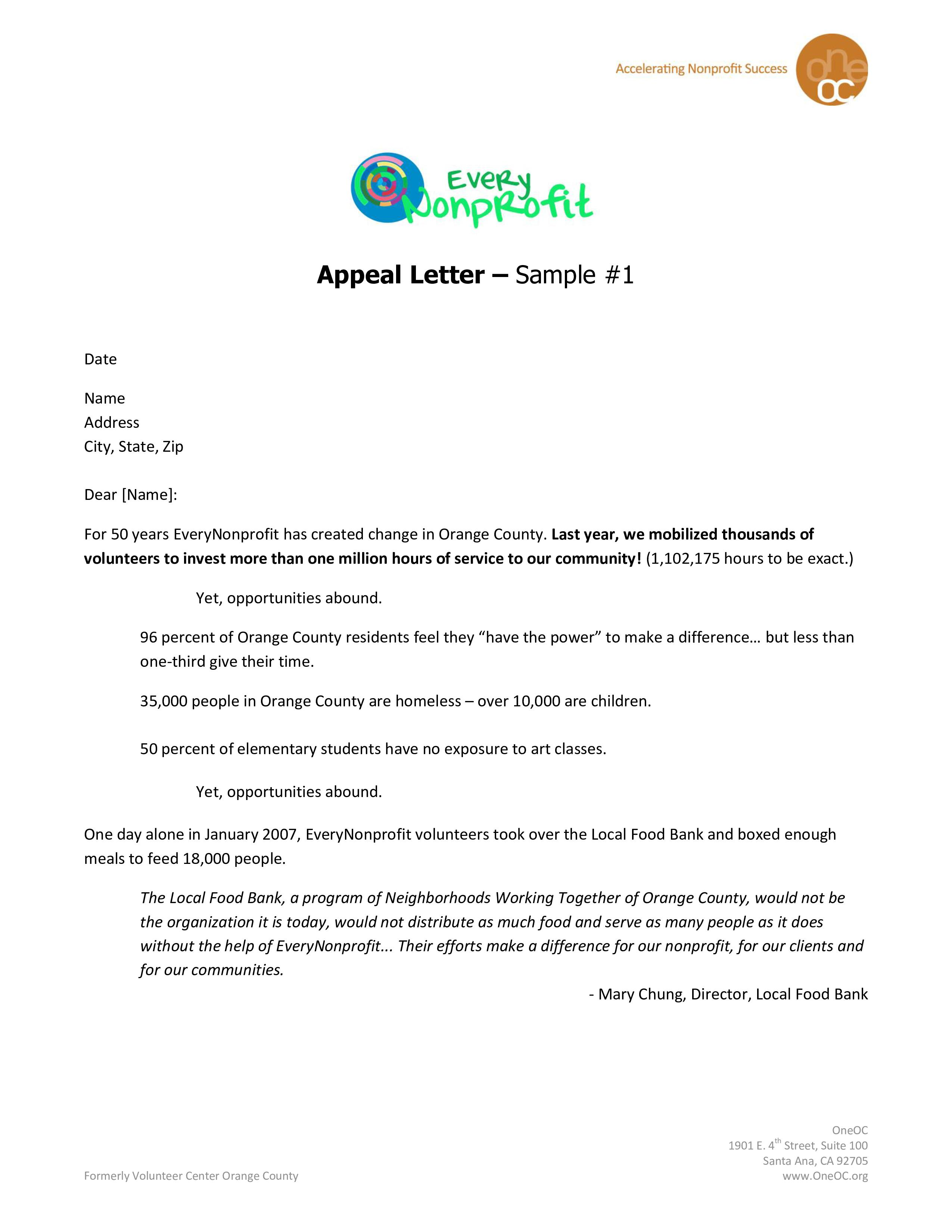 Fundraising Letter Template Pdf