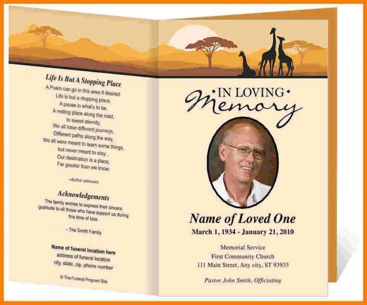 Funeral Announcement Flyer Template