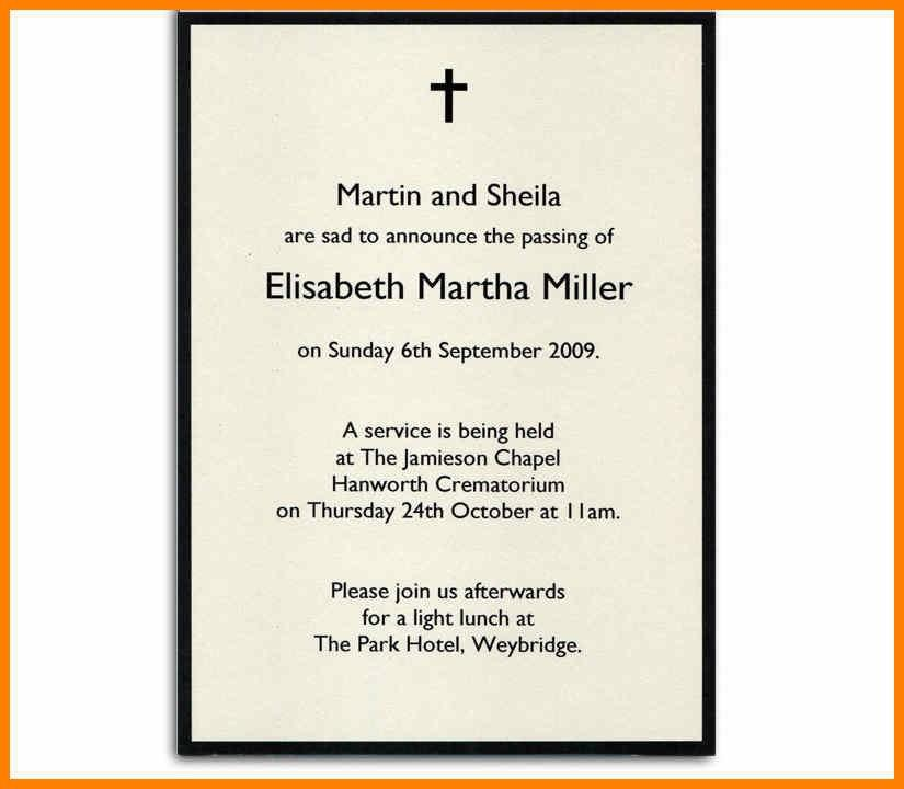 Funeral Announcement Sample
