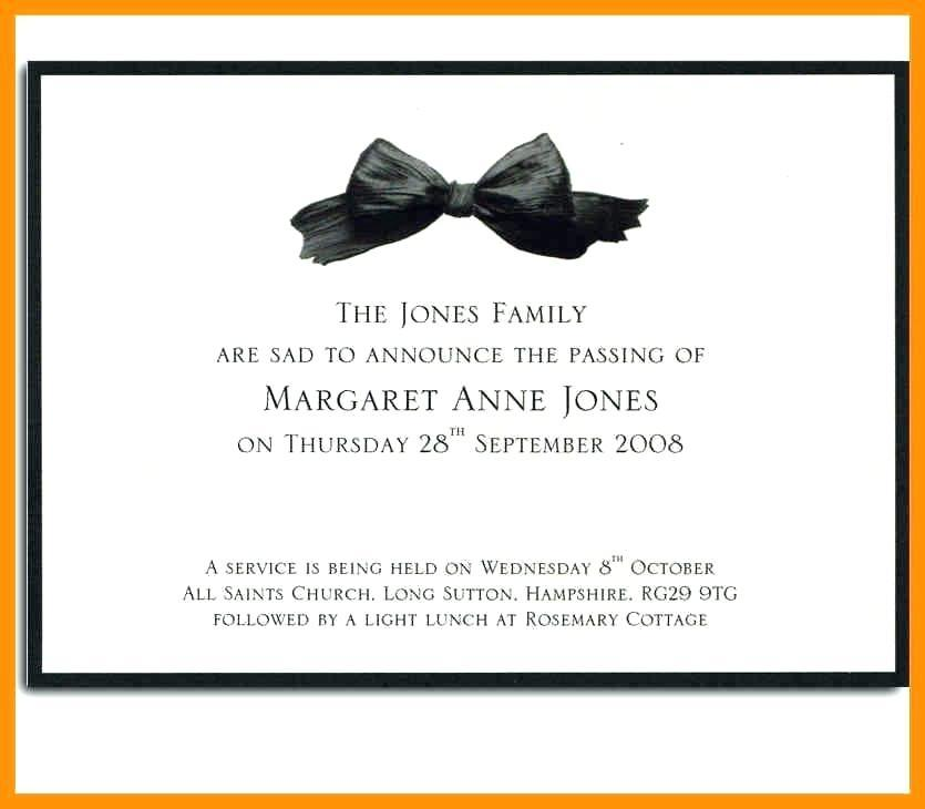 Funeral Announcement Template Online