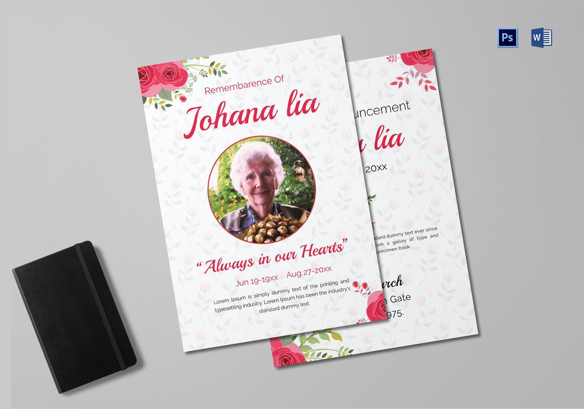 Funeral Arrangement Announcement Template