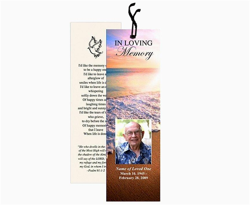 Funeral Bookmarks Template Free