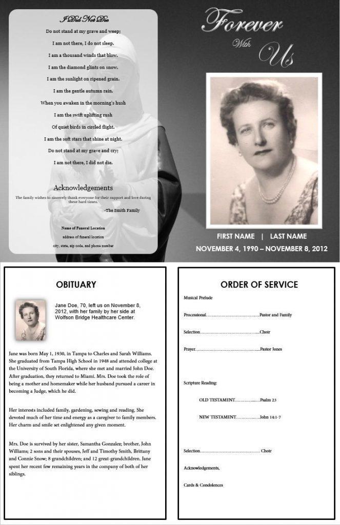 Funeral Brochure Template Google Docs