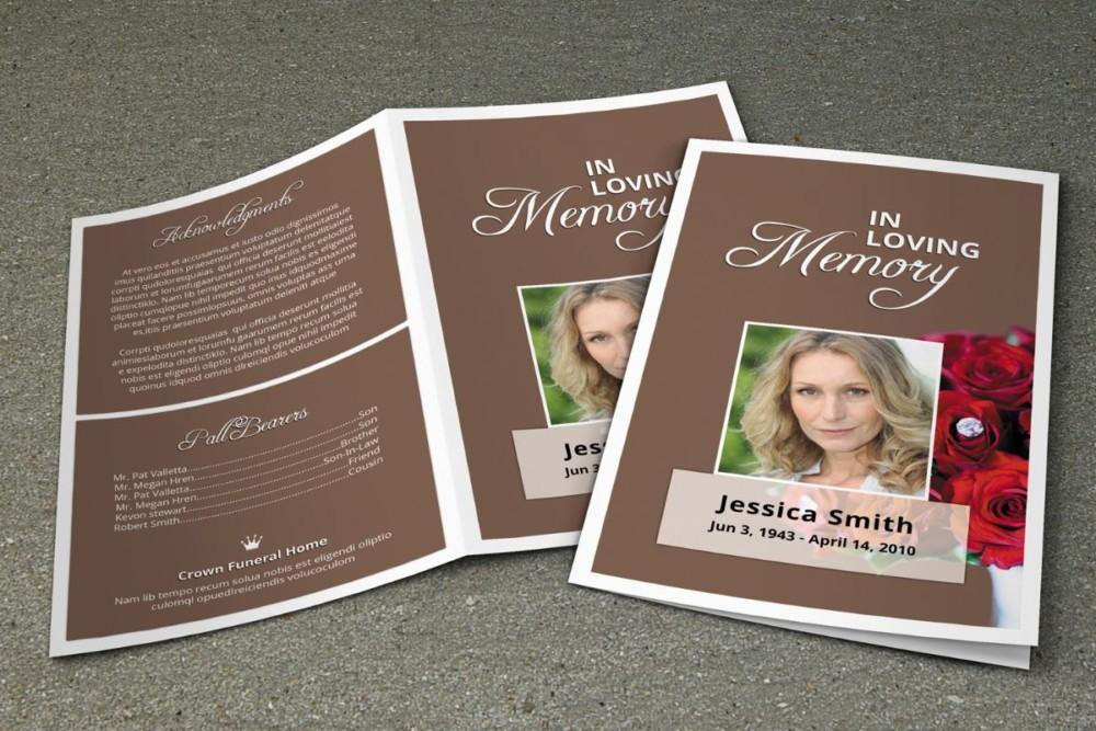 Funeral Brochure Template Indesign