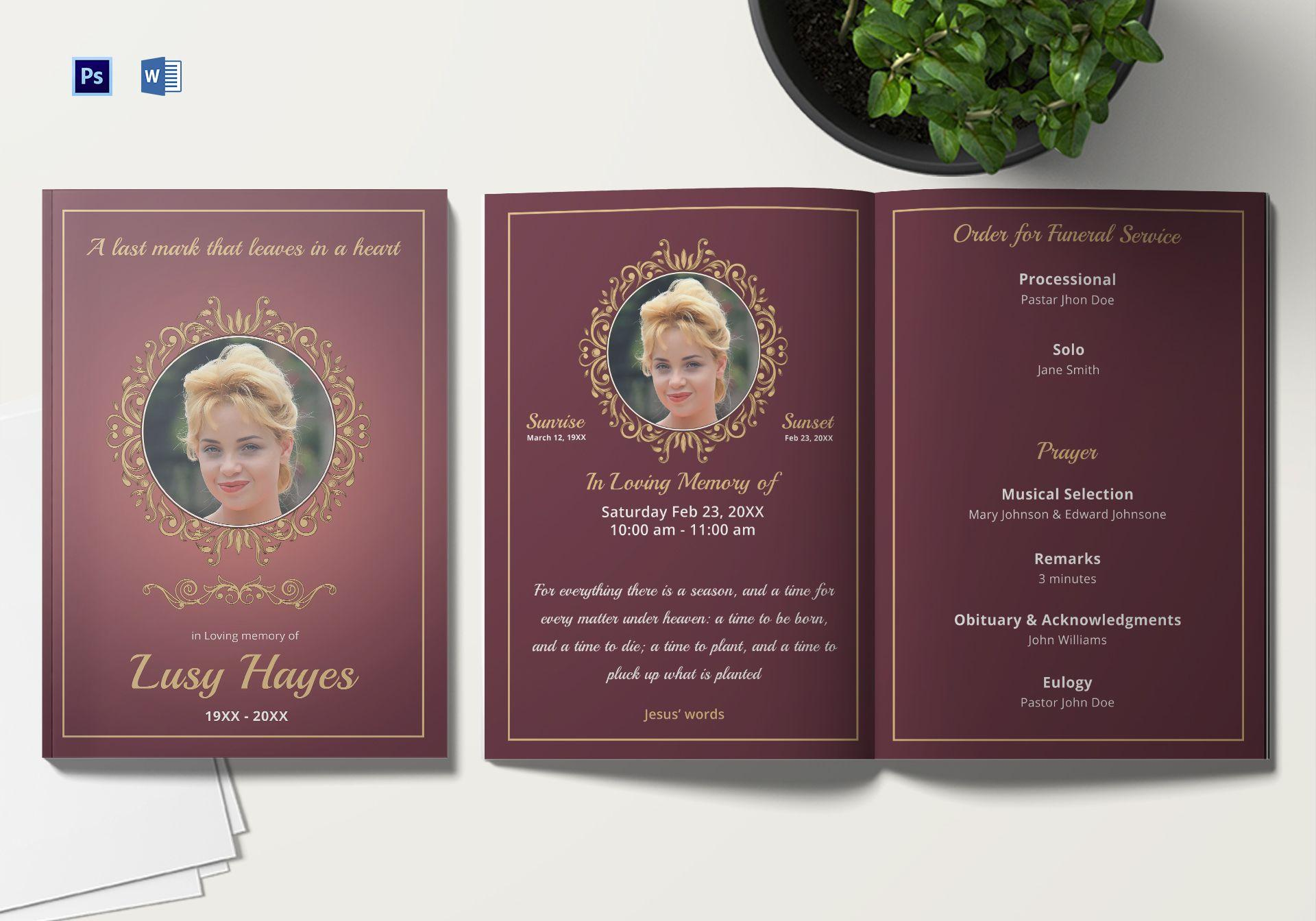 Funeral Brochure Template Microsoft Word