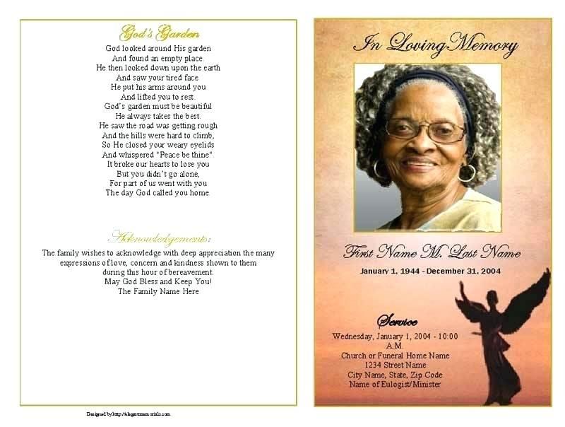 Funeral Bulletin Templates