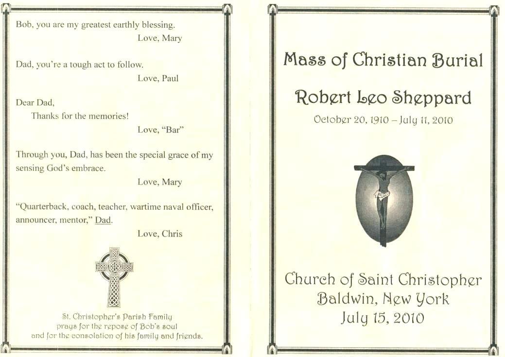 Funeral Ceremony Program Templates