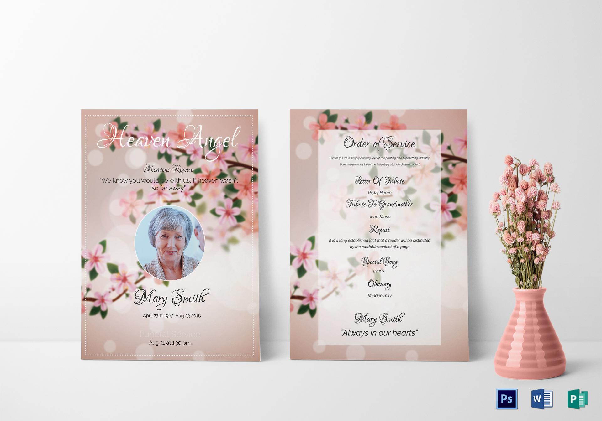 Funeral Invitation Template Psd