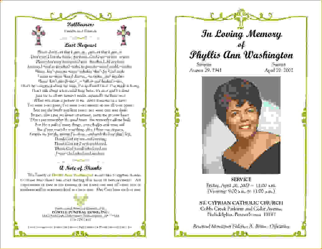 Funeral Invitations Templates