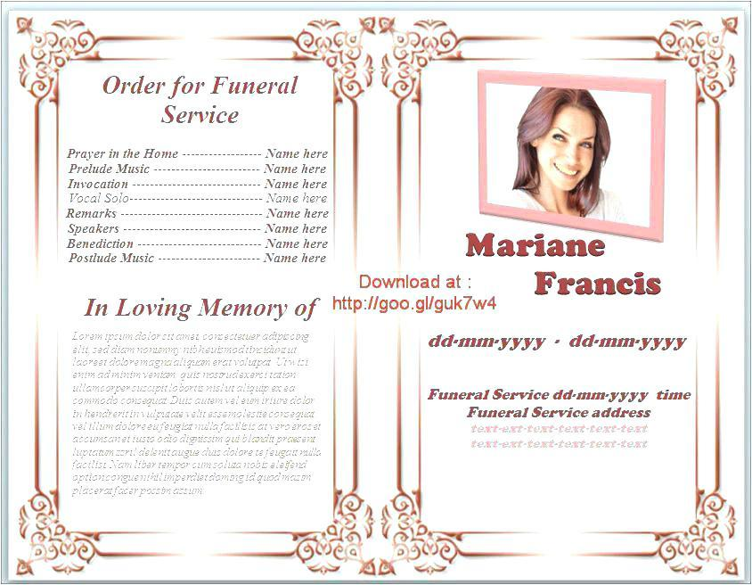 Funeral Program Template Canva