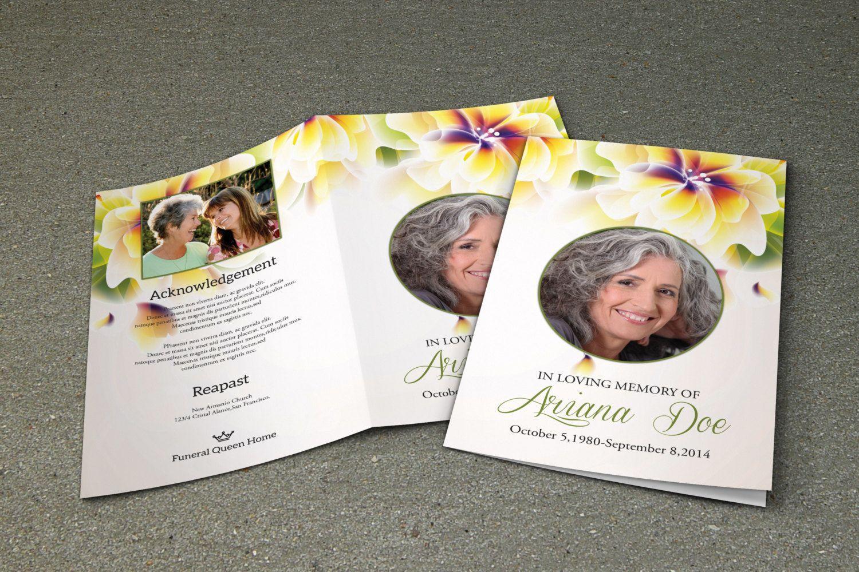 Funeral Program Template Photoshop