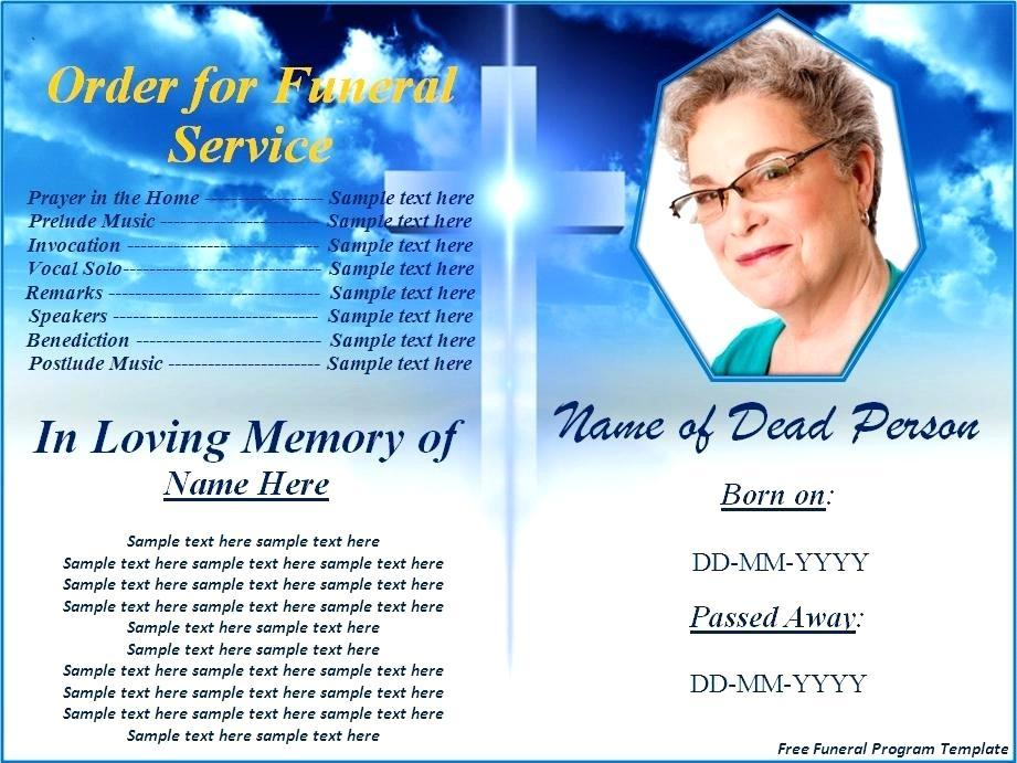 Funeral Program Templates For Mac