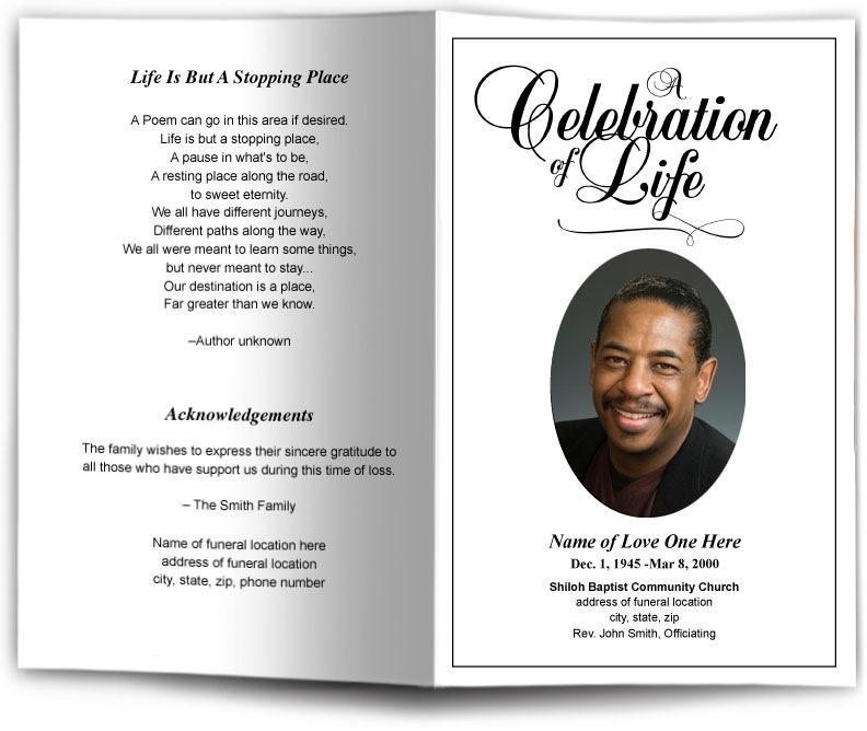 Funeral Service Brochure Template