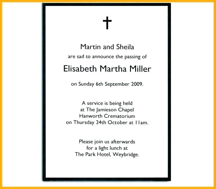 Funeral Template Letter Size