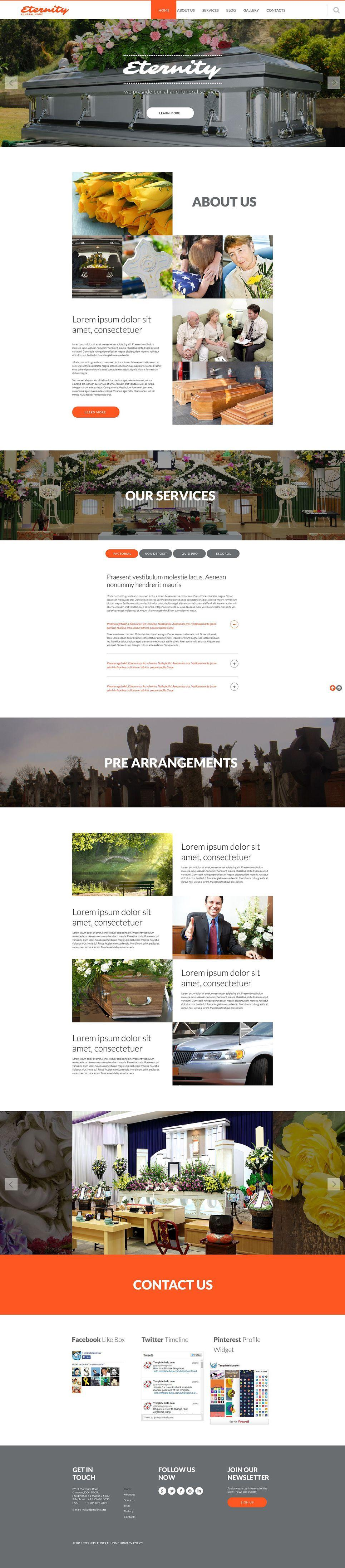 Funeral Website Design Templates