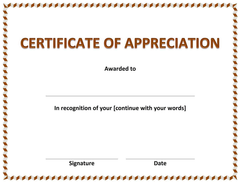 Funny Certificates Of Appreciation Templates