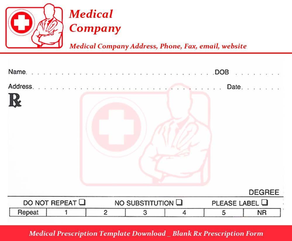 Funny Prescription Labels Template