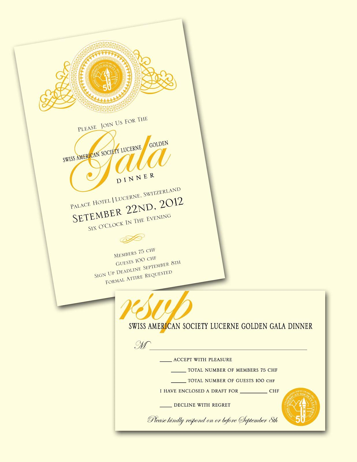 Gala Dinner Invitation Samples