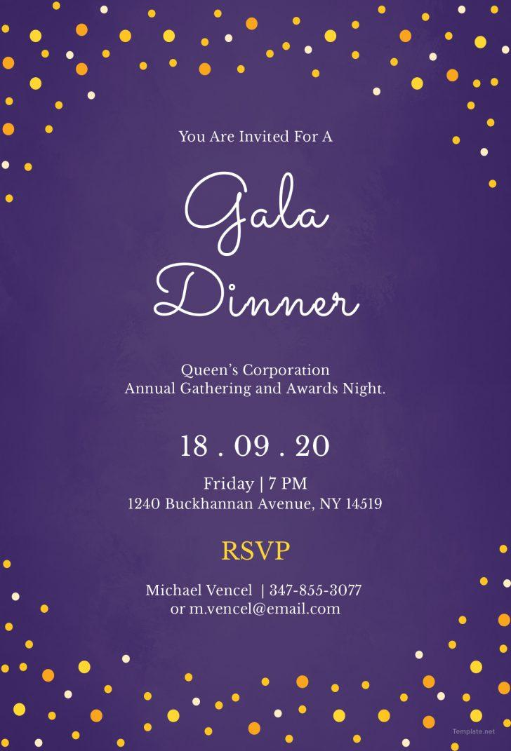 Gala Invitation Template Free