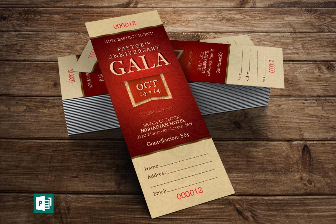 Gala Ticket Template