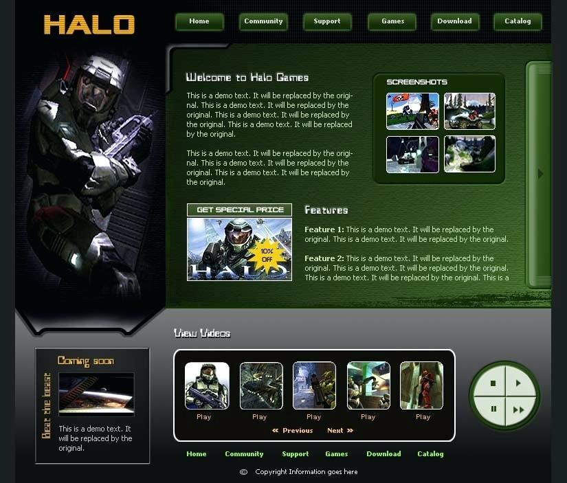 Gaming Clan Website Templates