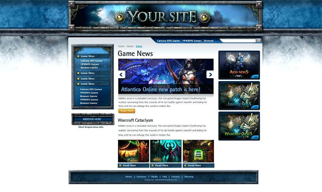 Gaming Guild Website Templates