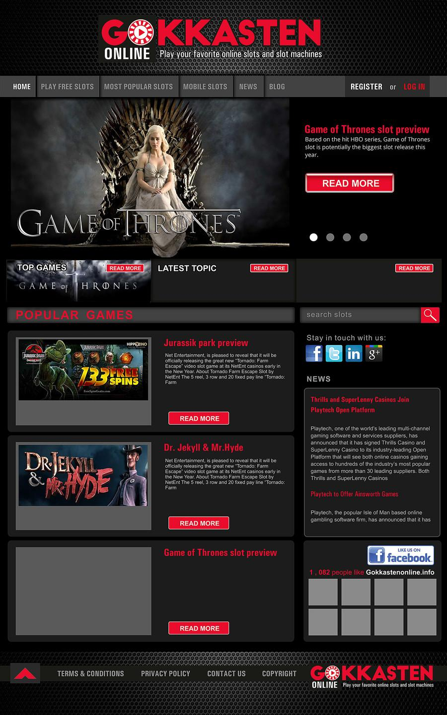 Gaming Website Templates Psd