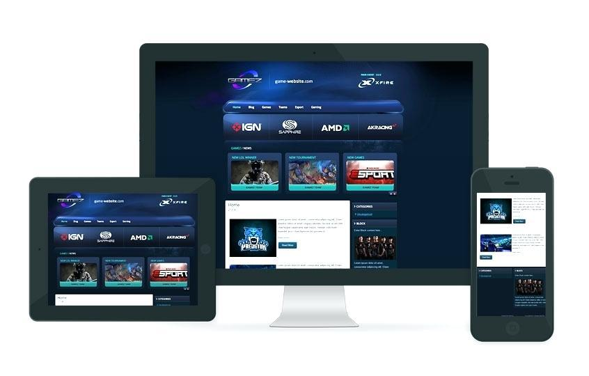 Gaming Websites Templates Free Download
