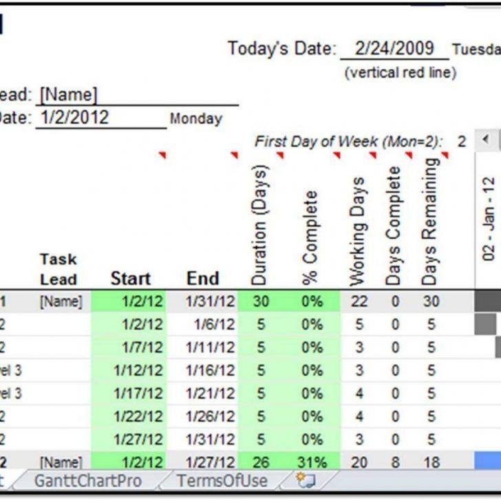 Gantt Calendar Template Excel