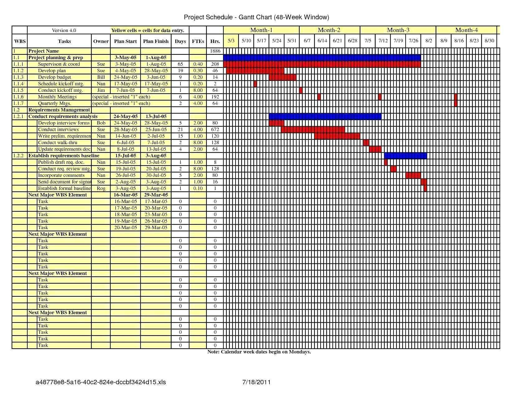 Gantt Chart Excel 2007 Template Free Download