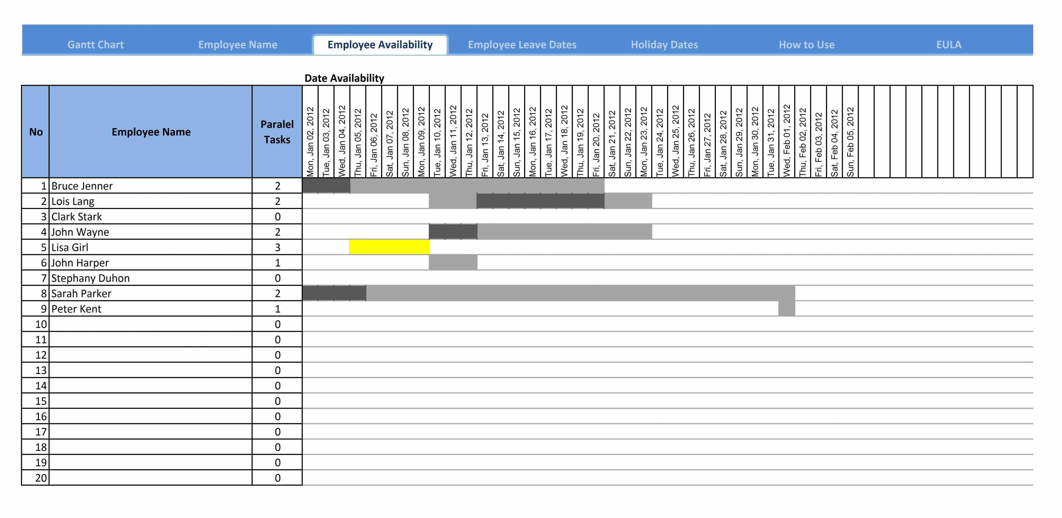 Gantt Chart Template Excel Mac 2008