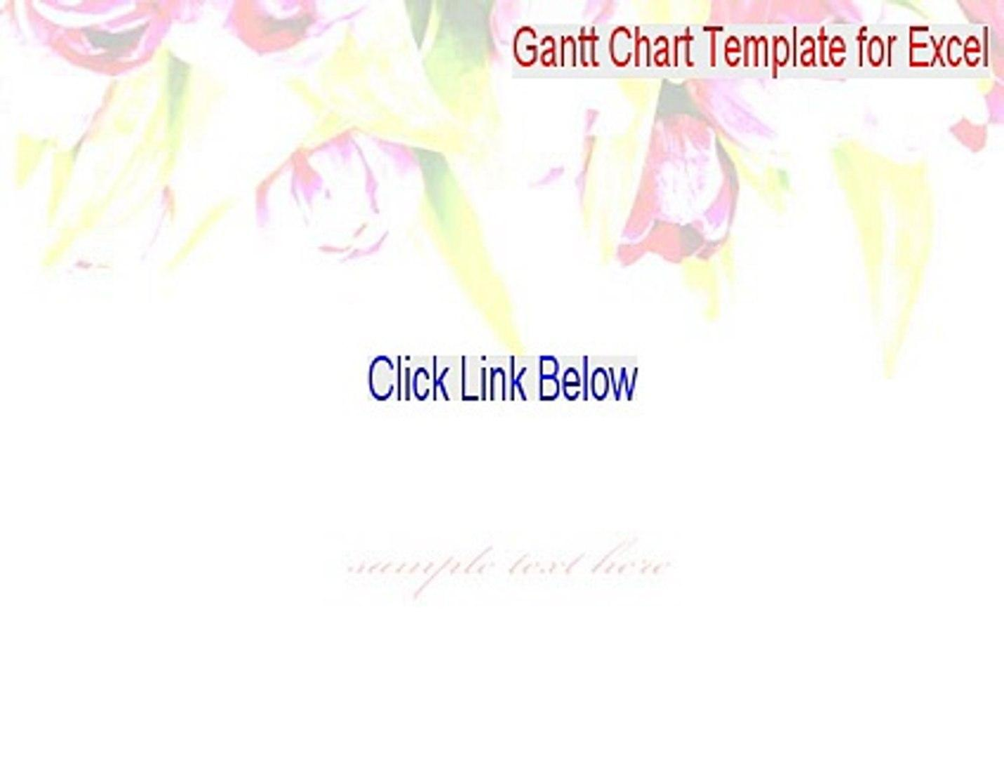 Gantt Chart Template For Excel 2010