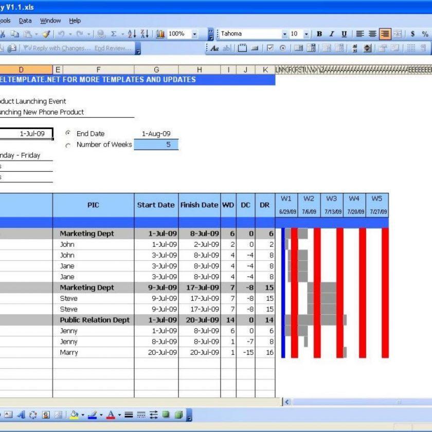Gantt Chart Template In Excel 2010