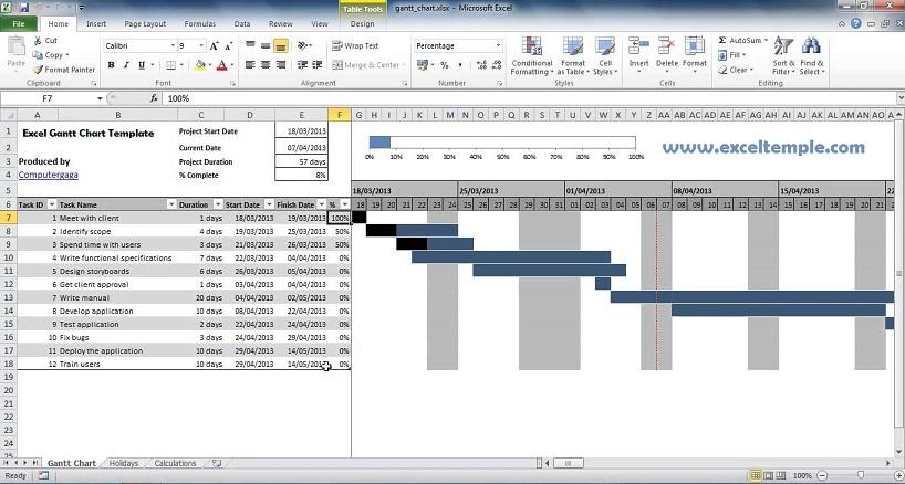 Gantt Chart Template Microsoft Project